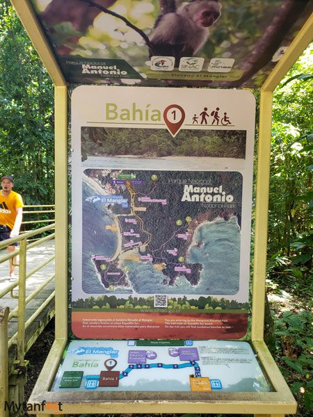 Manuel Antonio National Park braille universal trail