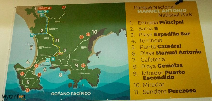 Manuel Antonio National Park map