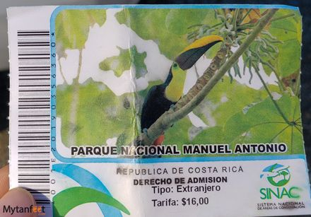Manuel Antono National Park ticket